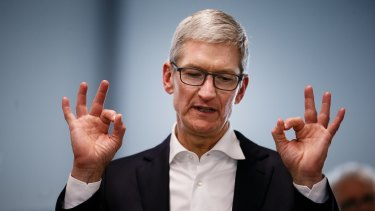 Apple CEO Tim Cook's total payout for the year was about $US102 million.