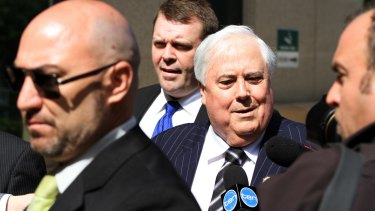 Clive Palmer arriving at the Federal Court in Brisbane in September.