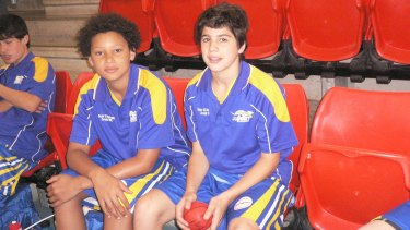 Two young sports stars Ben Simmons and Christian Petracca.