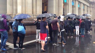 Some people camped outside H&M for up to 20 hours.