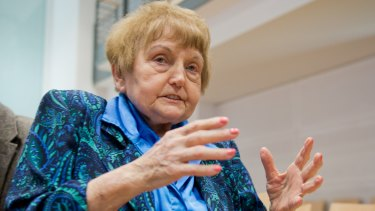 """Auschwitz survivor Eva Mozes Kor: """"You cannot predict what will happen when someone from the victims' side and someone from the perpetrators' side meet in a spirit of humanity."""""""
