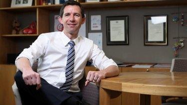 New Education Minister:  Senator Simon Birmingham says he wants to hear ideas about higher education.