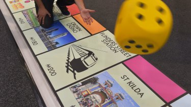 All aboard at Melbourne's Monopoly train stations.