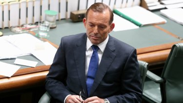 Prime Minister Tony Abbott during question time.