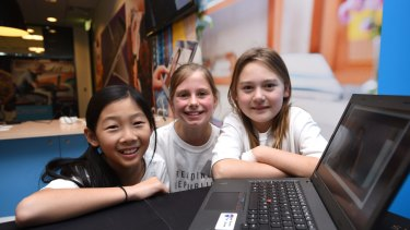 Claire Lau, Sophia Gianotti and Angelica Talevi designed the Reading Republic smartphone app.