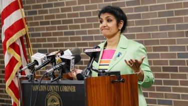 Coroner Lakshmi Kode Sammarco on Wednesday.