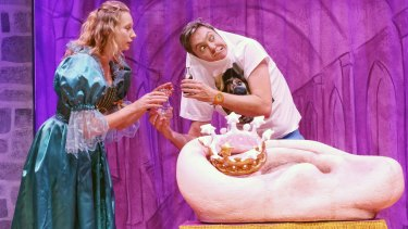 Olga Miller and Matt Kelly in Sydney Theatre Company???s HAMLET: PRINCE OF SKIDMARK By The Listies ?? Prudence Upton
