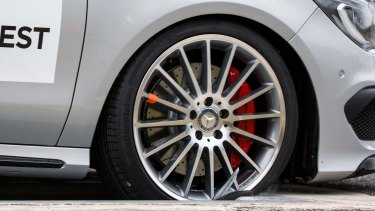 Car companies have warned that fakes parts, such as this counterfeit wheel, are putting lives at risk.