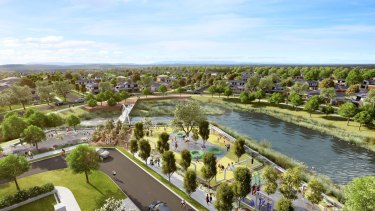An artist's impression of the $130 million Aquarevo estate.
