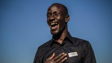 """Deng Adut has been named NSW Australian of the Year for 2017. """"I had to wait until I became an Australian citizen to know that I belonged,"""" he said Monday night."""