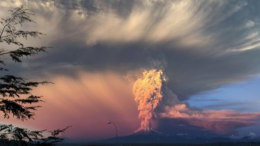 The Calbuco volcano in southern Chile erupted for the first time in more than five decades on Wednesday.