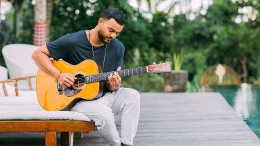 Guy Sebastian writing songs in Bali during a music retreat.