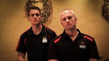 Paramedics and APA delegates Dan McPhee (left) and John McCormack (right).