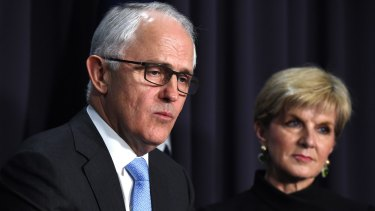 In a speech in Singapore on March 13, Foreign Minister Julie Bishop fundamentally contradicted Prime Minister Malcolm Turnbull's world view.