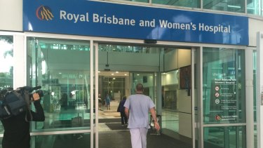 Dr Michael Rudd at the Royal Brisbane and Women's Hospital.