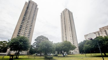 The Matavai and Turanga towers are among the six housing blocks comprising the Waterloo housing estate.