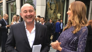 David Jones chairman Ian Moir and Rebecca Judd at the opening of David Jones Eastland in October.