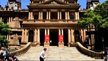 The Sydney Town Hall.