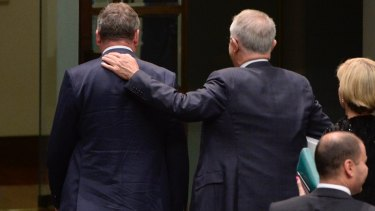 Shoulder to shoulder: Malcolm Turnbull (right) and Barnaby Joyce.