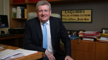 Communications Minister Mitch Fifield, one of two shareholder ministers in NBN Co.