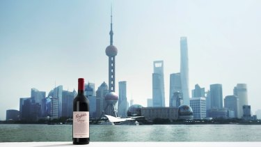 Penfolds Grange on The Bund, Shanghai, China, in 2011