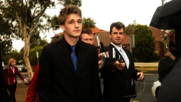 Brent Lohman, dubbed the poster boy of the Cronulla riots, attends court in 2006.