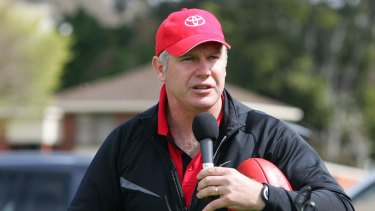 Former St Kilda player and ex-Richmond coach, Danny Frawley, said he would hold Caroline Wilson under the water.
