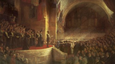 Tom Roberts' The Opening of the first Parliament of the Commonwealth of Australia by HRH Duke of Cornwall and York (later King George V) on May 9, 1901 will feature in the NGA's summer blockbuster exhibition.
