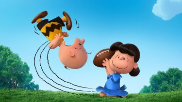 Charlie Brown and Lucy in <i>Snoopy and Charlie Brown: The Peanuts Movie.</i>