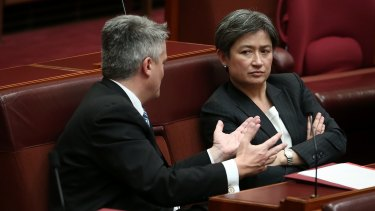 Mathias Cormann is offering to pass a law to enshrine legal protections for the postal survey.