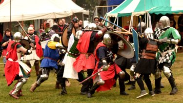 Call to arms: Cut and thrusts on the field of combat at the Rowany Festival.