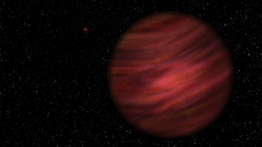 An artist's impression of the gas planet known as 2MASS J2126-8140.