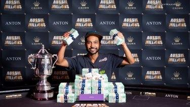 Shurane Vijayaram won $1.6 million at the Aussie Millions Poker Championship.