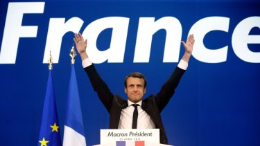 French centrist presidential candidate Emmanuel Macron is ahead in all major polls.
