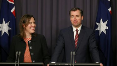 A spokesman for Minister for Justice Michael Keenan, pictured with Minister for Small Business and Assistant Treasurer Kelly O'Dwyer, said the government did not disclose whether it has made or intends to make an extradition request to a foreign country.