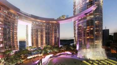 Concept images for the Queens Wharf development in Brisbane.