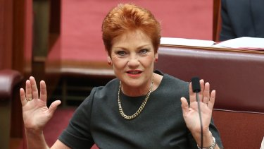 Pauline Hanson wants a ban on the burqa in government buildings in Queensland, if One Nation wins the next election.