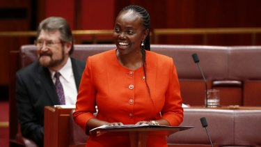 Senator Lucy Gichuhi delivers her first speech in the Senate.