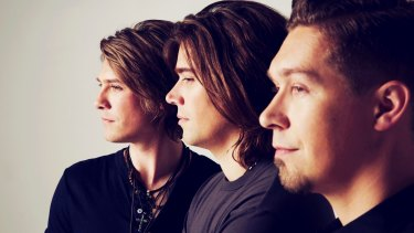 All grown up: The pop band Hanson.