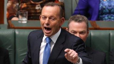 Former prime minister Tony Abbott was sent to the backbench following the September leadership spill.