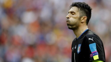 Absent: Italy goalkeeper Gianluigi Buffon is among those missing the Melbourne trip