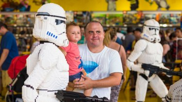 Store customers found themselves among life-size Lego troopers from a galaxy far, far away.