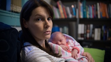 Brooke Tasovac, with four-week-old Amy, is angry that Australian Unity refuses to accept her obstetrics claim.