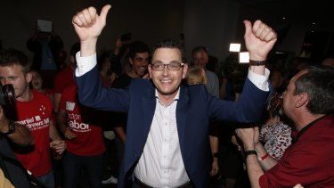 """Hands up if you like """"pudding"""". Daniel Andrews does."""