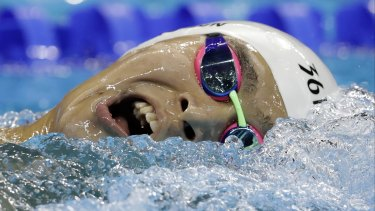 China's Sun Yang competes during a men's 1500m freestyle heat in Rio on Friday morning.