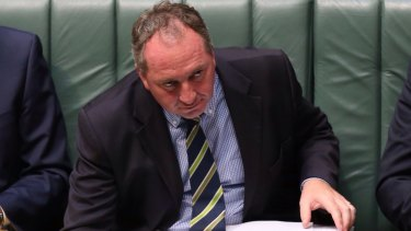 Agriculture Minister Barnaby Joyce.