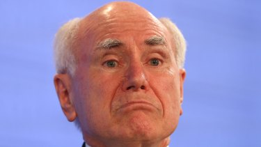 """Former PM John Howard says trying to spread blame for the citizenship fiasco is """"silly""""."""