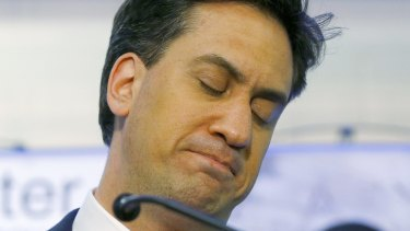Fallen: Labour leader Ed Miliband on election night in May this year.