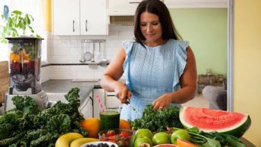 Home-made smoothies- Gabrielle Maston suggests making them healthier by using more vegetables, less fruit and adding protein in the form of Greek yoghurt or soft tofu.