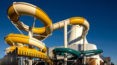 The water slides at GESAC in Bentleigh.